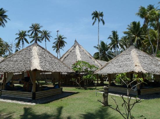 Coco Beach: The dining huts