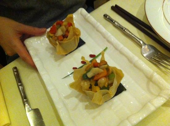 Zen Garden Restaurant : antipasto con verdure e frutti di mare
