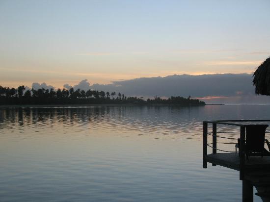 Sofitel Moorea Ia Ora Beach Resort: alba