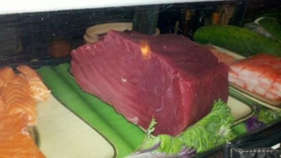 Ronin Sushi and Bar : My husband wanted this picture of a huge hunk of tuna.