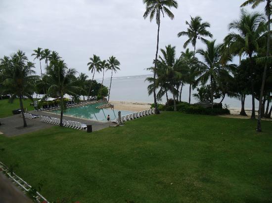 Shangri-La's Fijian Resort & Spa: View from 665 over the pool