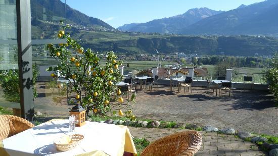 Hotel Residenz Pazeider: Blick vom Restaurant