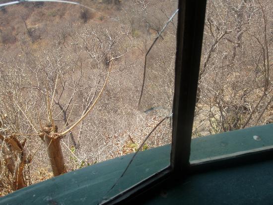 Chizarira National Park, Zimbabwe: broken window