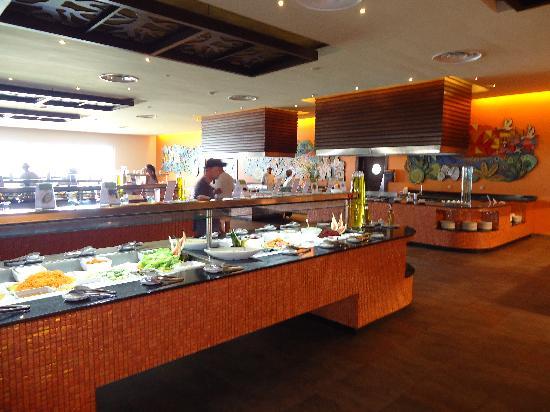 Barcelo Bavaro Palace: Vista buffet al Caribe