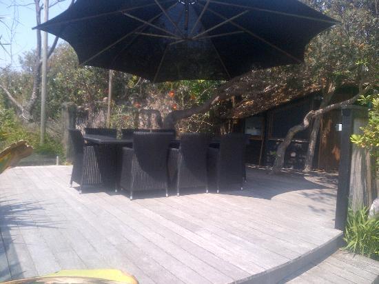 Shambhala@Byron: Private outside dining area