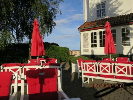 Hotel Kirstine: 庭からの眺め