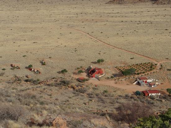 Barchan Dune Retreat: Blick vom Berg