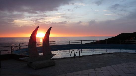 Hotel La Caletta: Blick von der Terasse auf's Meer