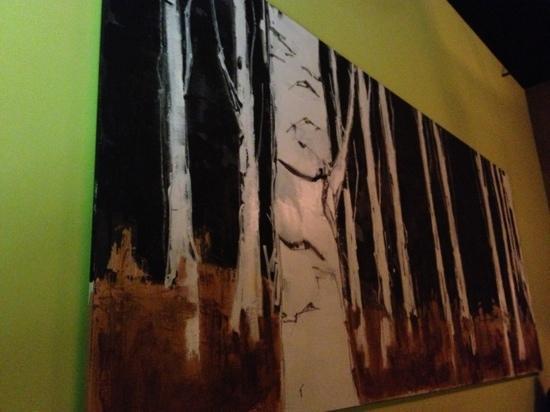 Eurasia : beautiful burch trees painting