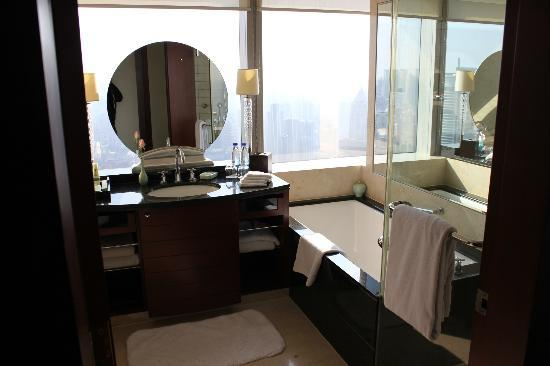JW Marriott Hotel Shanghai at Tomorrow Square: nice view from the bathroom