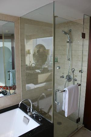 JW Marriott Hotel Shanghai at Tomorrow Square: shower is not a big deal