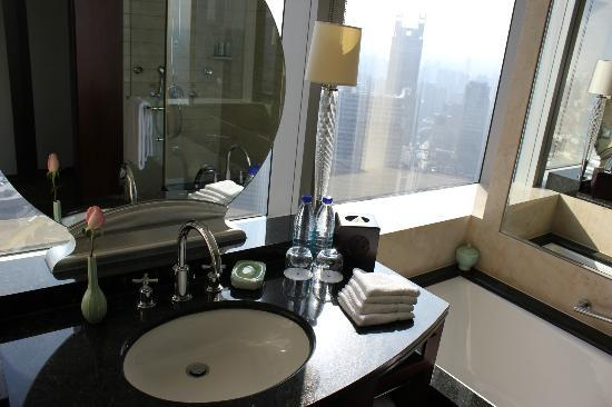 JW Marriott Hotel Shanghai at Tomorrow Square: view from the bathroom