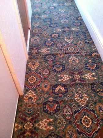 Arcadian Hotel: the carpet which was very dangerous