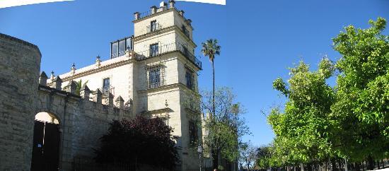 Camara Oscura Alcazar Jerez de la Frontera: Camera Oscura tower corner Alcazar