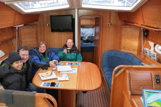 Edinburgh Boat Charters: Coffee and pastries