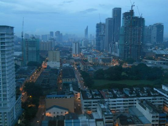 Ramada Plaza Kuala Lumpur: View from our room at dawn