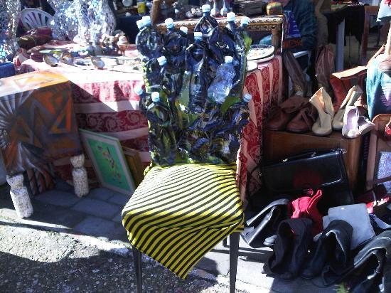 Borghetto Flaminio: bottle chair