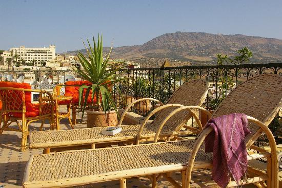 Riad Kettani: Terrasse