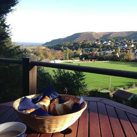 Amberton Bed and Breakfast: Croissant with a view...