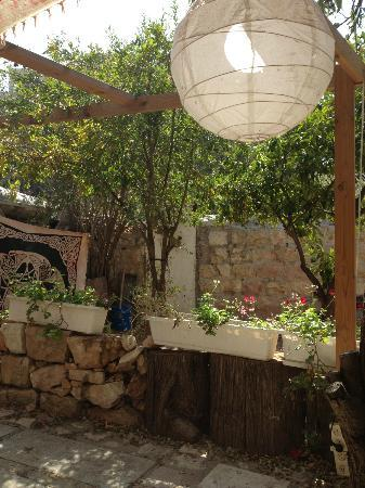 Bebo's Falafel Restaurant: Bebo's backyard
