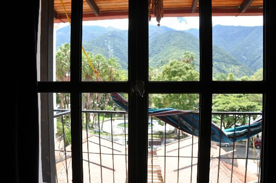 Posada Guamanchi: View from inside the room - window in view