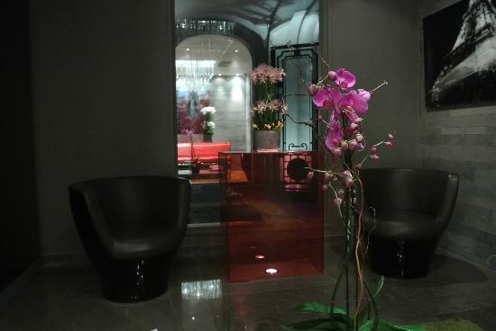 Hotel Sezz Paris: Decor at entrance.