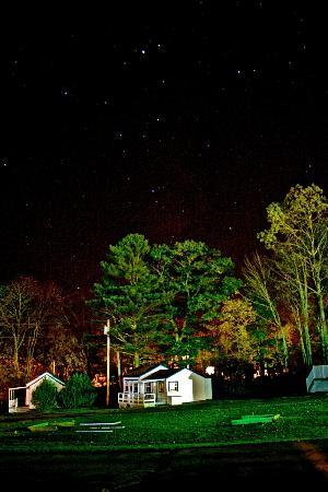 Colonial Gables Oceanfront Village: Night sky above the cottages.