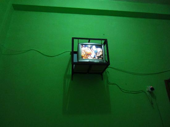 Merapi Hotel: the tv in our room