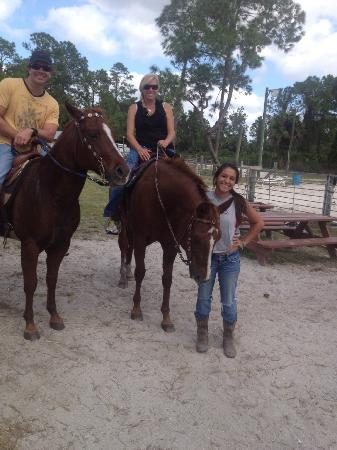 Rockin' N Stables: Billy - Carmen and our Guide