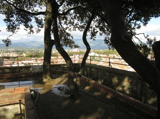 Il Seminario Bed & Breakfast: Garden at the top of Guignini Tower--Medieval decadence!