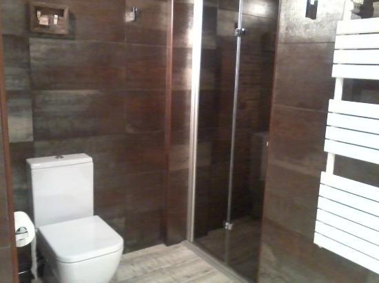 Hotel Cotori: Puerta ducha y wc