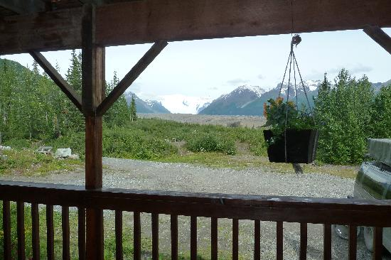 Kennicott River Lodge: Root Glacier from front porch