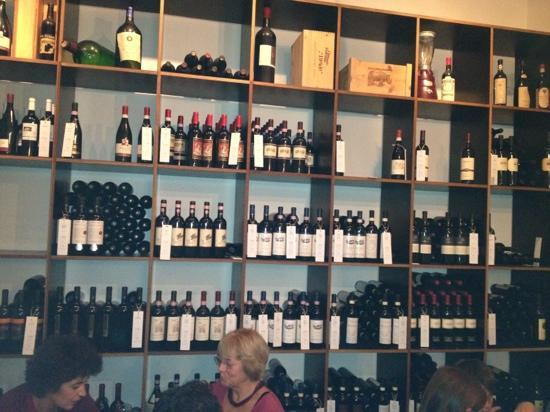 muret la barba: part of the wine selection. all Italian.