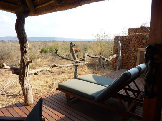 Madikwe Safari Lodge: Terrazzo della camera