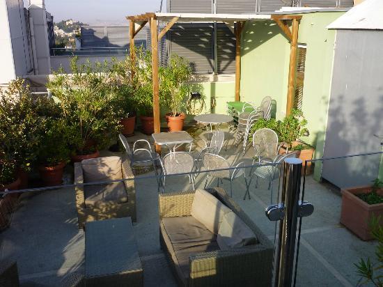 Hermes Hotel: Terrasse de l'hôtel