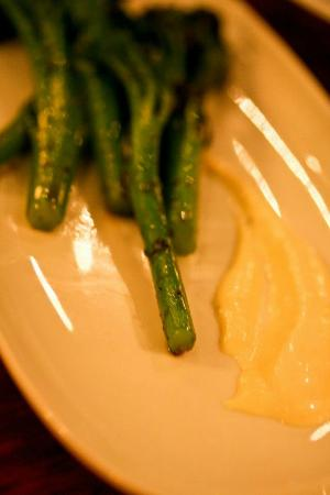 Shila - Sharon Cohen's Kitchen & Bar: Broccomini in a white butter sauce with crabmeat (7/10)
