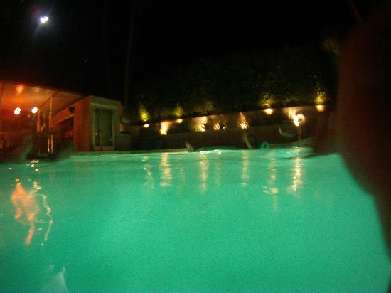 Orbit In: Swimming pool at night