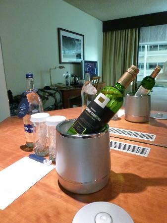 Hilton London Heathrow Airport: Ice bucket and ice from machine keeps your drinks cool