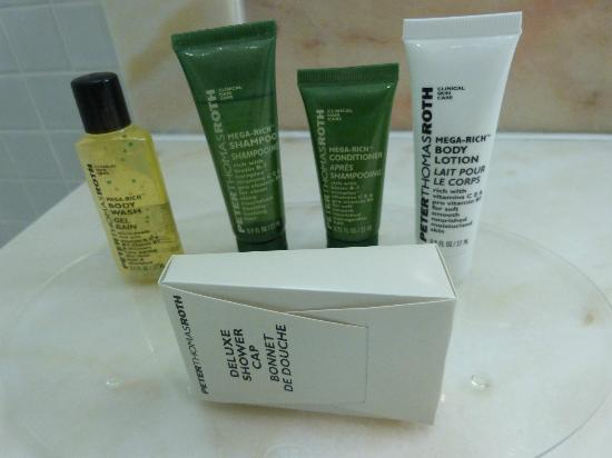 Hilton London Heathrow Airport: Good quality toiletries