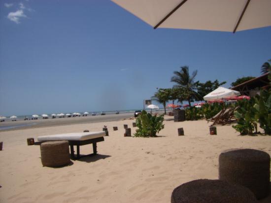 Casa na Praia: praia em frente a pousada