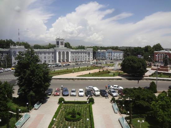 Hotel Poytaht: Window view of Hotel Poytakht in Dushanbe