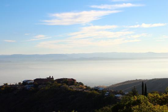 Ghost City Inn: Morning fog over the Verde Valley, Oct 2012