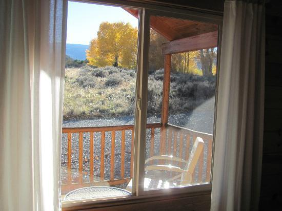 Cowboy Homestead Cabins: Porch with view