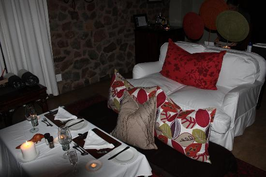Dulini Lodge: dinner surprise