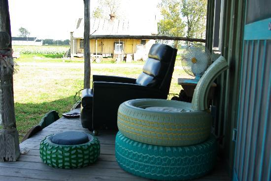 Shack Up Inn: A wonderful place to relax on the back porch