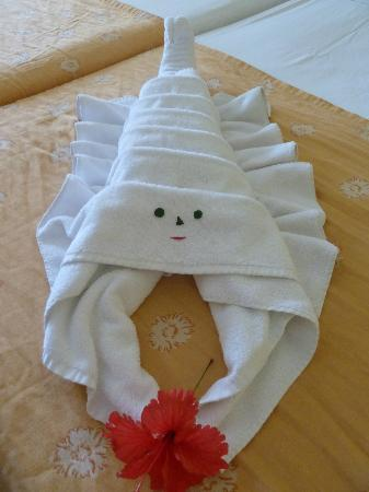 Hotel Playa Pesquero Resort, Suite & SPA: Towel art tastic!