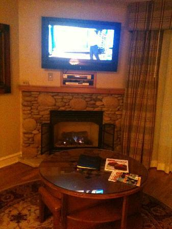 RiverStone Resort & Spa: fireplace in room