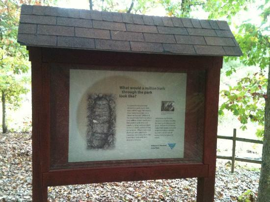 Umstead State Park: Board near the lake
