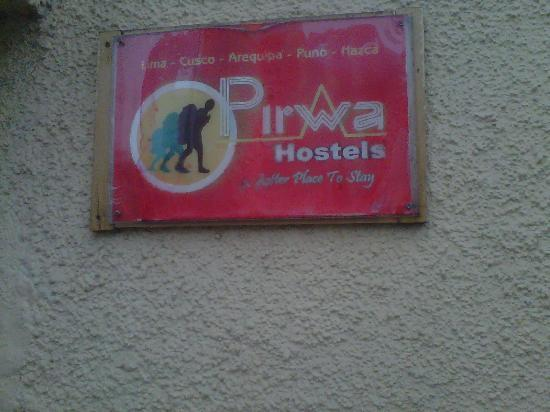 Pirwa Bed & Breakfast Inclan: The sign