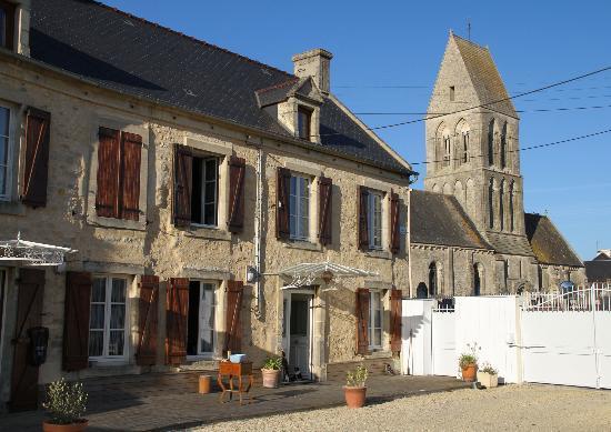 La Ferme aux Chats : Courtyard and Village Church